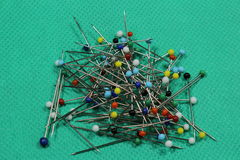 Sewing pins Stock Photos