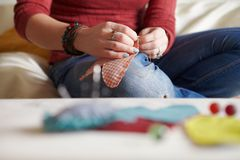 Sewing process. Stock Image