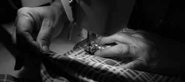 Sewing process Stock Images