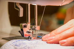 Sewing process Royalty Free Stock Photography