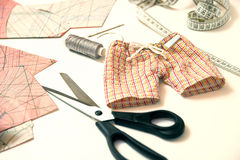 Sewing, repairing things yourself. Royalty Free Stock Photography