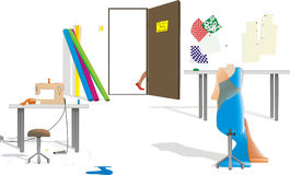Sewing Room stock illustration