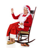 Sewing Santa S Rip Stock Photo