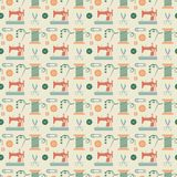 Sewing seamless pattern royalty free illustration