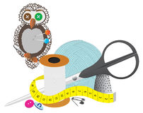 Sewing set Royalty Free Stock Photography