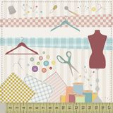 Sewing set royalty free illustration