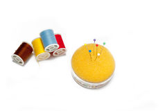 Sewing set against white background Stock Photography