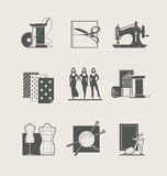 Sewing. Set of  icons Stock Photo