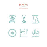 Sewing set of icons Stock Images