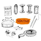 Sewing. Set of illustrations Stock Image