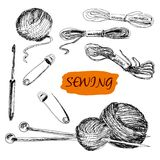 Sewing. Set of illustrations Stock Photography