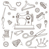 Sewing set Royalty Free Stock Image