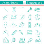 Sewing set, Line  icons. Stock Photo