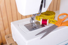 Sewing and sewing machine supplies Royalty Free Stock Photo
