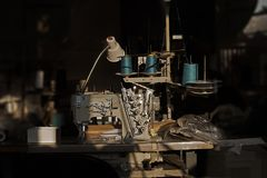 Sewing Shop After Hours royalty free stock images