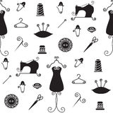 Sewing silhouette pattern Stock Photo