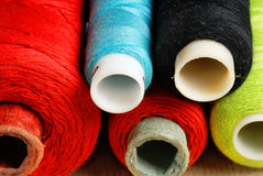 Sewing spools Royalty Free Stock Image