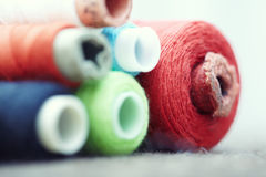 Sewing spools Royalty Free Stock Photos