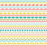 Sewing stitch borders. Sewing stitch border stripes clipart Stock Illustration