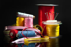 Sewing stuff Royalty Free Stock Photos
