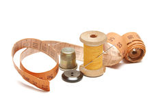 Sewing stuff close-up Royalty Free Stock Images