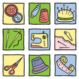 Sewing stuff and tools Stock Images
