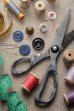 Sewing supplies. Still Life of sewing supplies stock photography