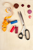 Sewing supplies Stock Photos