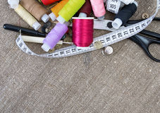 Sewing Supplies Royalty Free Stock Photos