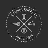 Sewing supplies badge. Stock Photos