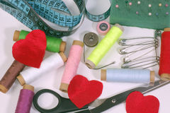 Sewing supplies Stock Photo