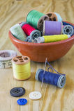 Sewing supplies Royalty Free Stock Images