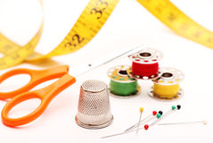 Sewing supplies Stock Images