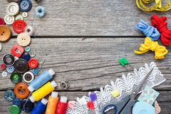 Sewing Supplies Royalty Free Stock Photo