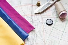 Sewing table Royalty Free Stock Photos