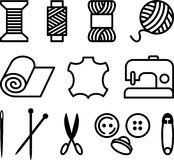 Sewing/Tailor Elements Royalty Free Stock Images