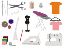 Sewing & Tailoring Icons Stock Image