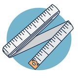 Sewing tape Cartoon illustration Sewing supplies centimeter stock illustration