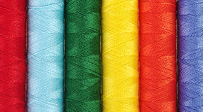 Sewing Thread. Closeup of different colored sewing thread Royalty Free Stock Photos