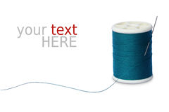 Sewing Thread And Needle On White Royalty Free Stock Photos