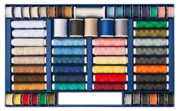 Sewing thread box Stock Image