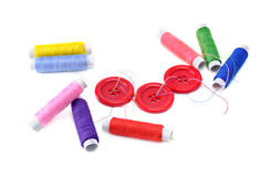 Sewing thread and buttons Stock Image