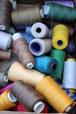 Sewing thread. Colorful sewing thread as background royalty free stock photos