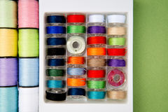 Sewing - Thread - Cotton Reels and Bobbins Stock Image
