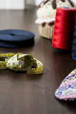 Sewing thread. Elements, blue, texture Royalty Free Stock Images