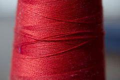 Sewing thread. Elements, red, texture Royalty Free Stock Photography