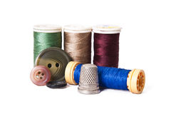 Sewing thread isolated Stock Images