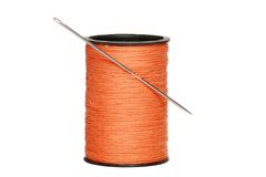 Sewing Thread With Needle Royalty Free Stock Photography
