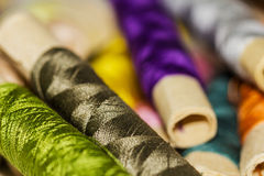 Sewing Thread Pattern Stock Photography