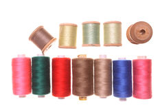 Sewing thread reel. S on a withe isolated background with copy space Royalty Free Stock Photography